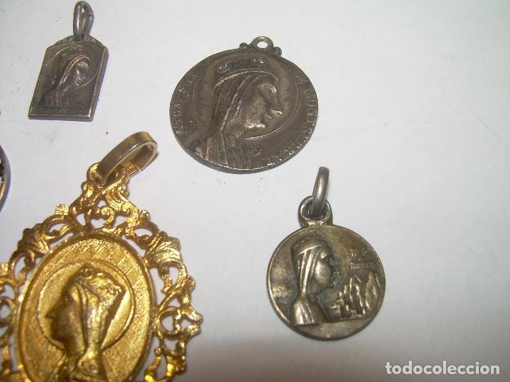 Antigüedades: CINCO ANTIGUAS MEDALLAS DE N.S. DE MONTSERRAT...LA MAYORIA DE PLATA. - Foto 3 - 94048795