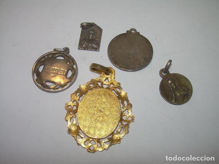 Antigüedades: CINCO ANTIGUAS MEDALLAS DE N.S. DE MONTSERRAT...LA MAYORIA DE PLATA. - Foto 4 - 94048795