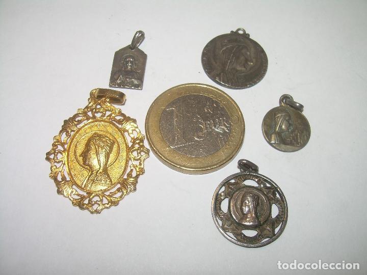 Antigüedades: CINCO ANTIGUAS MEDALLAS DE N.S. DE MONTSERRAT...LA MAYORIA DE PLATA. - Foto 5 - 94048795