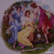 Antigüedades: DECORATIVO PLATO DE COLECCION SELLADO IBERO TANAGRA SANTANDER, MITOLOGIA, MIDE 23 CM.. Lote 94067140