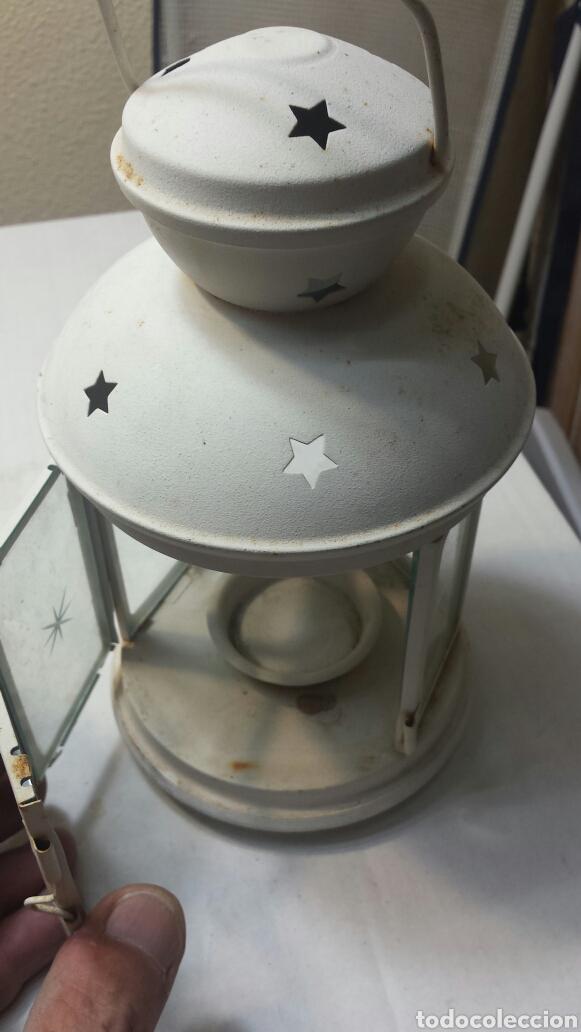 Antigüedades: Farolillos antiguos de vela forja y cristal Retro - Foto 3 - 94073144