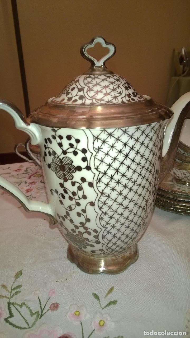 Antigüedades: JUEGO ANTIGUO DE CAFÉ DE PORCELANA Y PLATA BAVARIA - Foto 13 - 93970335
