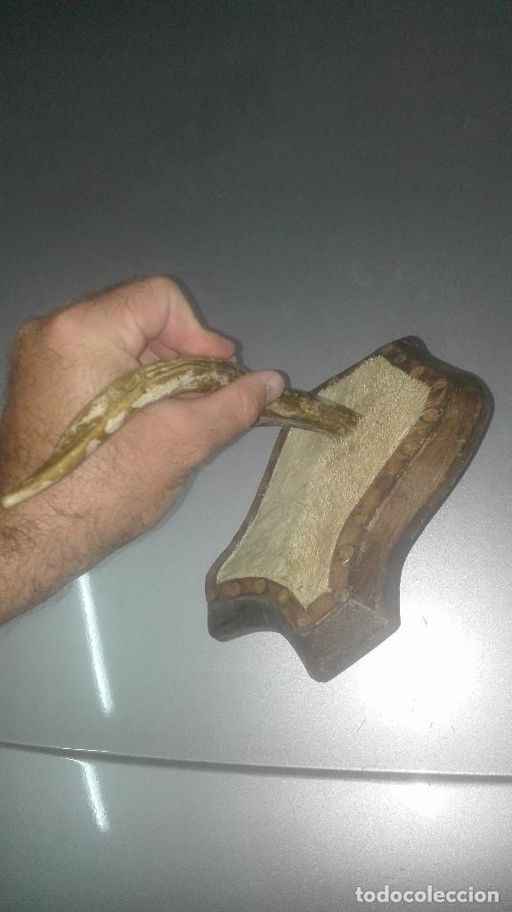 Antigüedades: Antiguo cuerno de ciervo - Foto 2 - 94081250