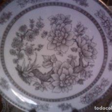 Antigüedades: ~~~~BONITO JUEGO SERVIR DE PORCELANA SANTA CLARA, SELLADO Y FIRMADO. BANDEJA Y SEIS PLATOS~~~~. Lote 94082070