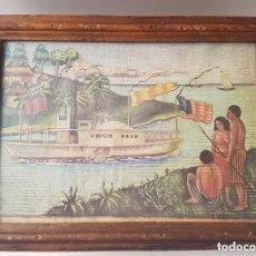 Antigüedades: ANTIGUA CAJA PEINES, JOYERO, MADERA MACIZA CON CRISTAL PARTE SUPERIOR.. Lote 94091190