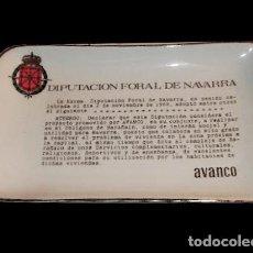 Antigüedades: CURIOSIDAD NAVARRA,BANDEJA DE PORCELANA DE PORCELANAS DEL NORTE (PAMPLONA). Lote 27207458