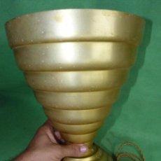 Antigüedades: ESPECTACULAR LAMPARA SUELO ART DECO FRANCIA AÑOS 30 ALUMINIO BAUHAUS MID CENTURY SPACE AGE. Lote 94119280