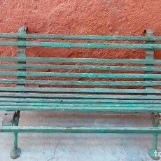 Antigüedades: BANCO DE JARDIN-RESTAURAR-. Lote 94133970