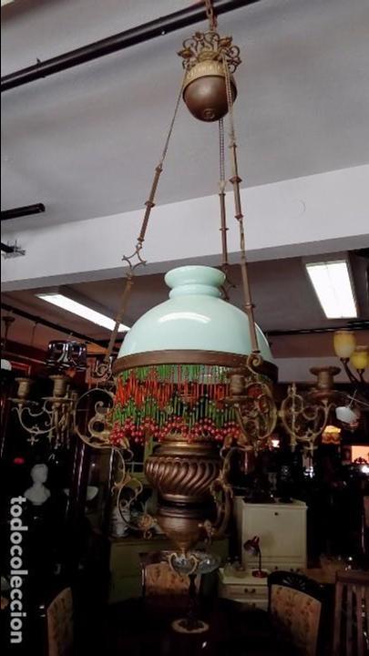 QUINQUE DE TECHO SS XIX- DUPLEX Nº 2 (Antigüedades - Iluminación - Quinqués Antiguos)