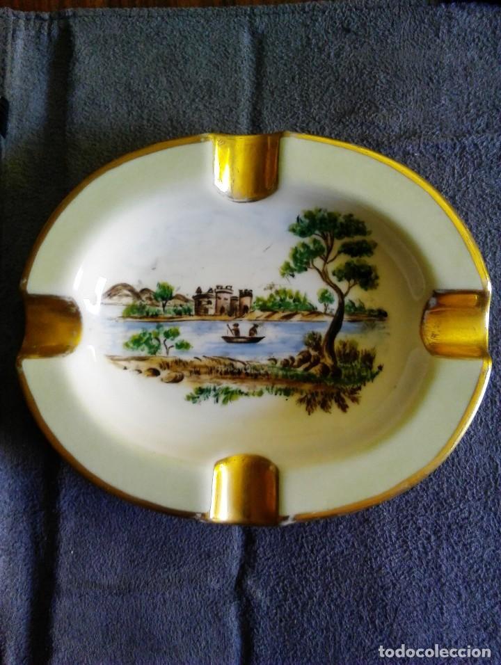 CENICERO PORCELANA LANGENTHAL SUIZA NÚMERO 61. (Antigüedades - Porcelanas y Cerámicas - Otras)