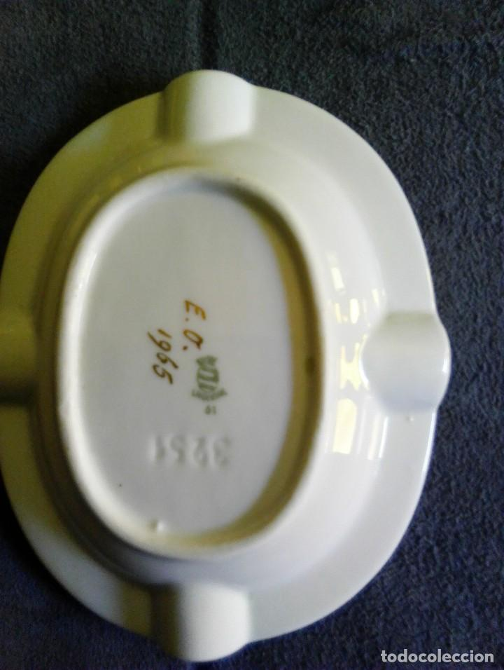 Antigüedades: Cenicero porcelana Langenthal Suiza número 61. - Foto 2 - 94143630