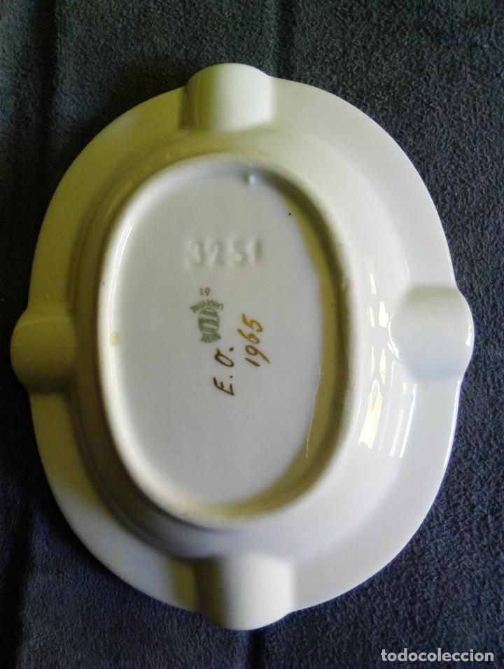 Antigüedades: Cenicero porcelana Langenthal Suiza número 61. - Foto 3 - 94143630