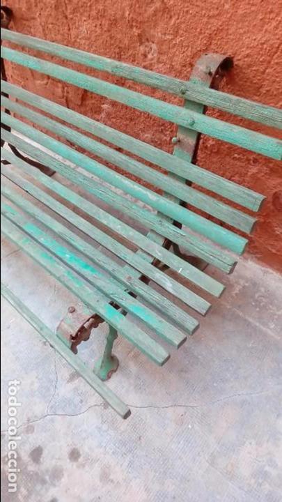 Antigüedades: banco de jardin-restaurar- - Foto 3 - 94133970