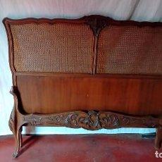 Antigüedades: CAMA FRANCESA ENREJILLADA. Lote 94156820