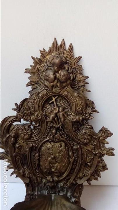 Antigüedades: benditera de bronce - - Foto 2 - 93890050