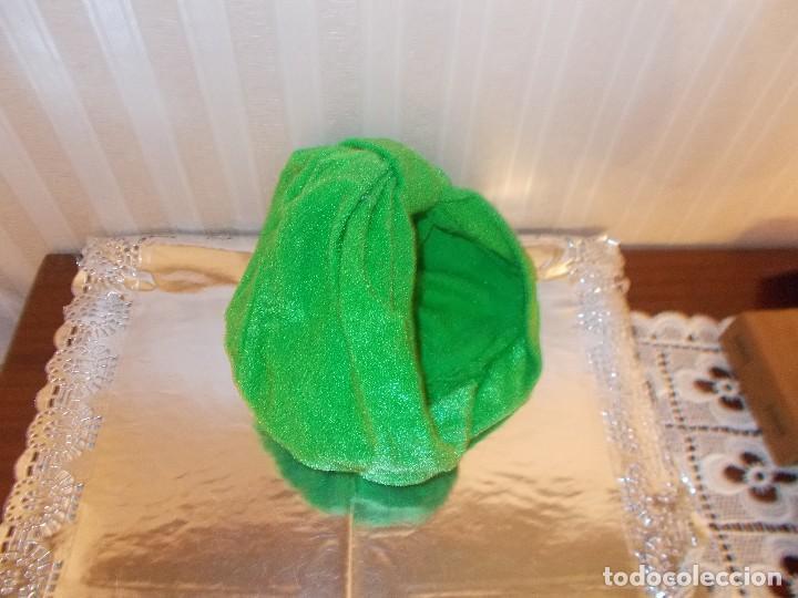Antigüedades: Gorro turbante felpa años 60 nuevo es un resto de tienda antigua - Foto 2 - 94252325