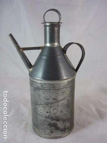 Antigüedades: Antigua Aceitera de Hojalata - 20cm - Foto 2 - 94273030