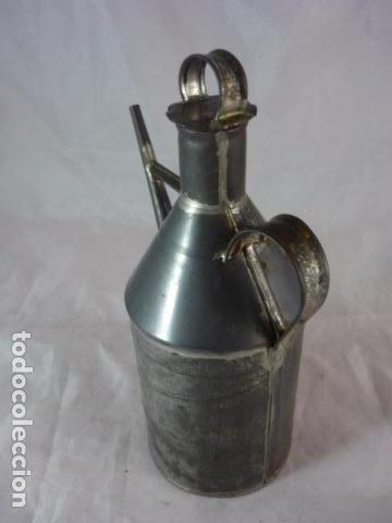 Antigüedades: Antigua Aceitera de Hojalata - 20cm - Foto 4 - 94273030
