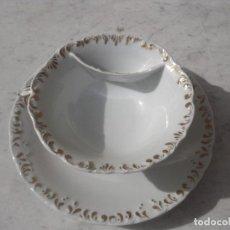 Antigüedades: ESPECTACULAR MOUSTACHE CUP, PORCELANA ANTIGUA. Lote 94276675