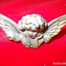 Antigüedades: ANTIGUA MINIATURA DE ANGELITO DE BRONCE ACABADO ENVEJECIDO. Lote 94277495