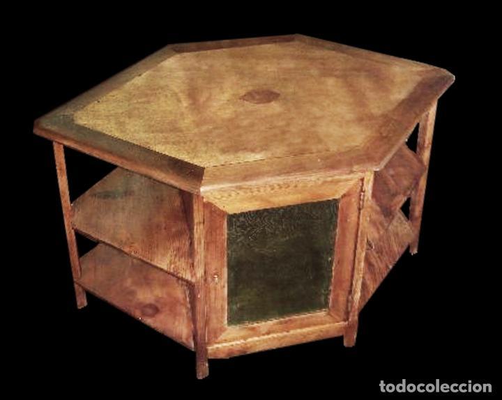 Rareza preciosa mesa de madera de pino y nogal comprar - Mesas para delante del sofa ...