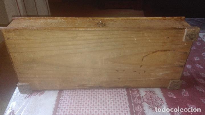 Antigüedades: antigua caja-soporte encaje de bolillos - Foto 6 - 94296618