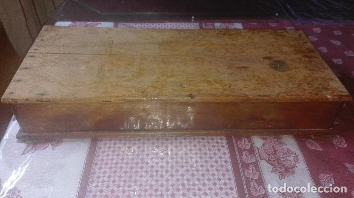 Antigüedades: antigua caja-soporte encaje de bolillos - Foto 7 - 94296618