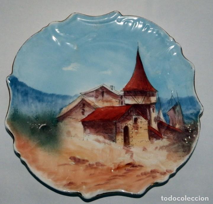 PLATO EN PORCELANA FRANCESA (Antigüedades - Porcelana y Cerámica - Francesa - Limoges)