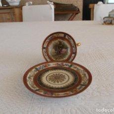 Antigüedades: PRECIOSA TACITA CAFÉ COLECCION LIMOGES FIRMADA Y FECHADA 1861 PERFECTA 143,00 €. Lote 94329678