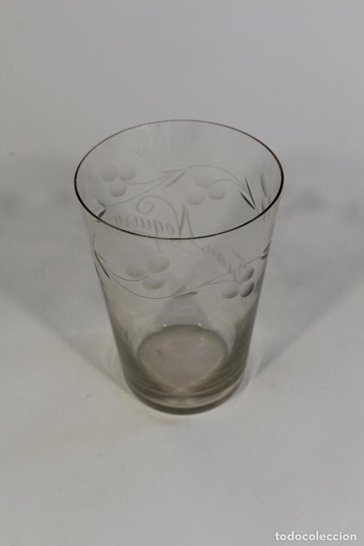 Antigüedades: vaso grande en cristal de santa lucia - cartagena - Foto 3 - 94361034