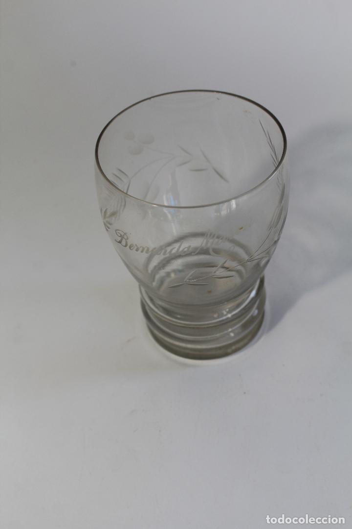 Antigüedades: vaso en cristal de santa lucia - cartagena - Foto 2 - 94361694
