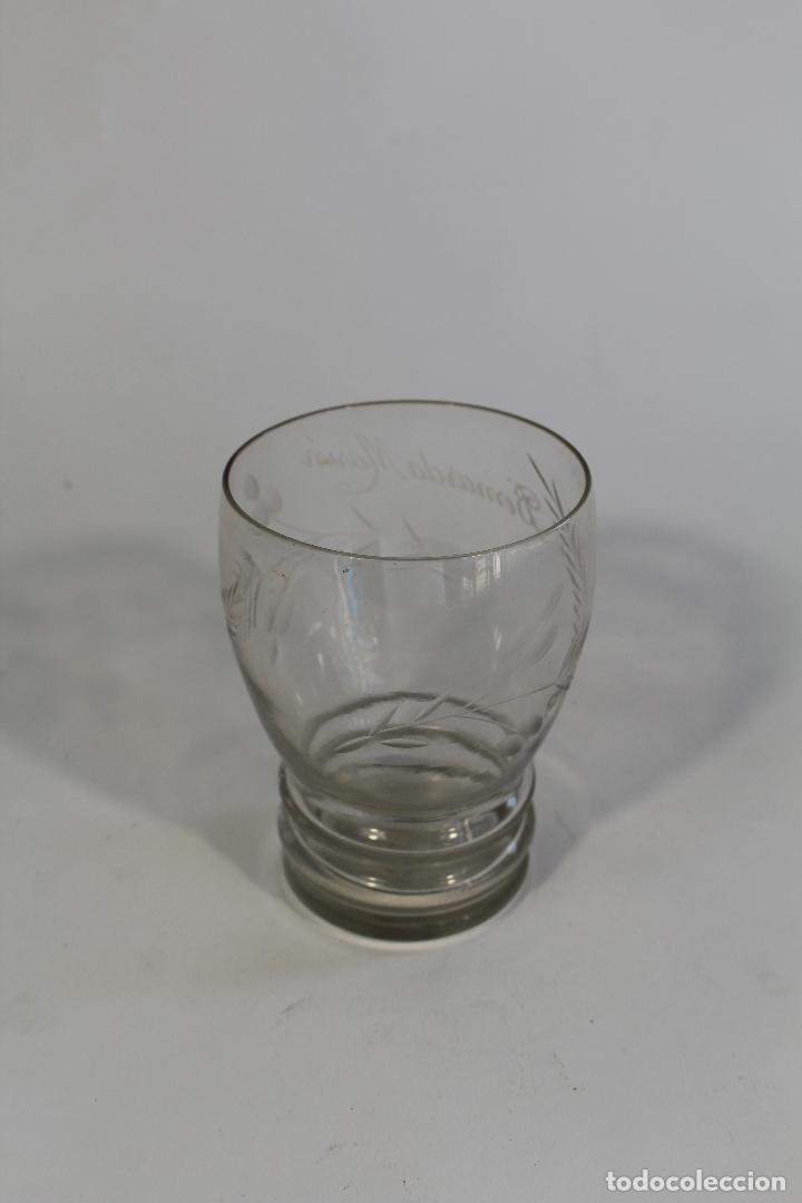Antigüedades: vaso en cristal de santa lucia - cartagena - Foto 3 - 94361694