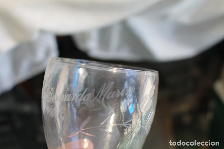 Antigüedades: vaso en cristal de santa lucia - cartagena - Foto 4 - 94361694