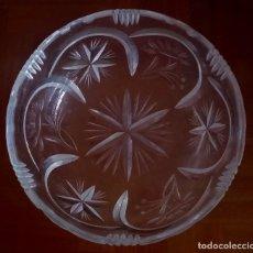 Antigüedades: BOL DE CRISTAL DE PLOMO TALLADO MANUAL. REF. 623 . Lote 94393650