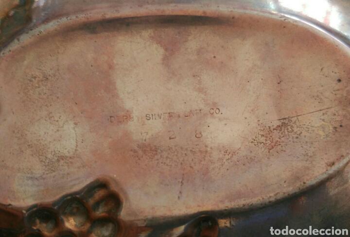 Antigüedades: ANTIGUA BANDEJITA SIGLO XIX DE LA FAMOSA CASA DERBY SILVER PLATE CO DE FINALES DE 1800 - Foto 5 - 94401900