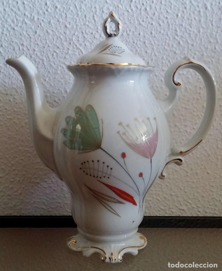 Antigüedades: Juego de Café porcelana Santa clara - 5 servicios - Ref. 776 - Foto 3 - 94407410