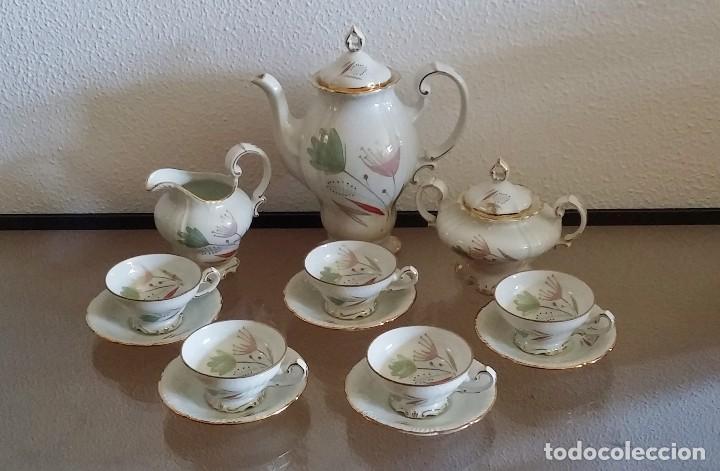 Antigüedades: Juego de Café porcelana Santa clara - 5 servicios - Ref. 776 - Foto 22 - 94407410