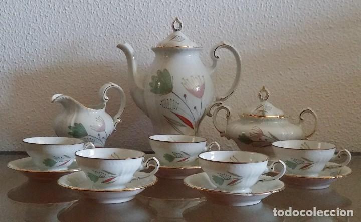 Antigüedades: Juego de Café porcelana Santa clara - 5 servicios - Ref. 776 - Foto 28 - 94407410