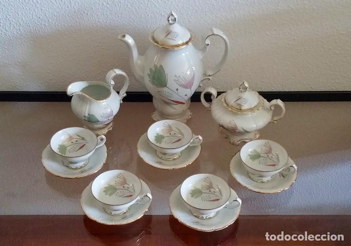 Antigüedades: Juego de Café porcelana Santa clara - 5 servicios - Ref. 776 - Foto 33 - 94407410