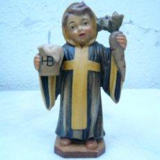 Antigüedades: NIÑO DE MUNICH - MÜNCHNER KINDL. TALLA DE LA CASA LEPI. Lote 94417570