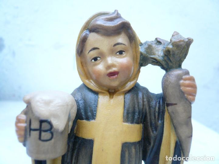 Antigüedades: NIÑO DE MUNICH - MÜNCHNER KINDL. TALLA DE LA CASA LEPI - Foto 5 - 94417570