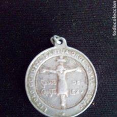 Antigüedades: ANTIGUA MEDALLA DE ALUMINIO SANTO CRISTO DE LEZO GURUTZE SANTOAREN ELIZA. Lote 94439339
