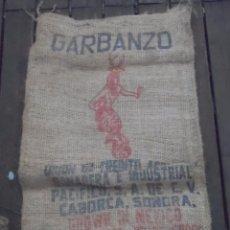 Antigüedades: SACO DE ARPILLERA YUTE GARBANZO MEXICO. Lote 94442746