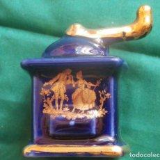 Antigüedades: MOLINILLO MINIATURA DE LIMOGES FRANCIA. PINTADO CON ORO. Lote 94443162