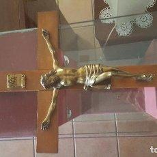 Antigüedades: CRUCIFIJO CON CRISTO DE BRONCE. Lote 94445766