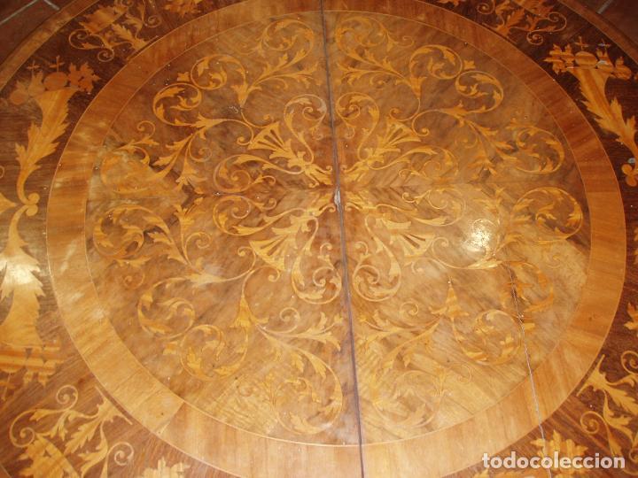 Antigüedades: ANTIGUA MESA ISABELINA CON MUCHA MARQUETERIA. ORIGINAL DE LA EPOCA, UNA JOYA. MAXIMA CALIDAD. - Foto 4 - 94454254