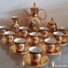 Antigüedades: JUEGO DE CAFÉ - 10 SERVCIOS - FÁBRICA SANBO - MADE IN SPAIN. REF.781. Lote 94457178