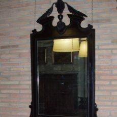 Antigüedades: ANTIGUO Y GRAN CONJUNTO DE CONSOLA Y ESPEJO TALLADO. ESPECTACULAR.. Lote 94459766