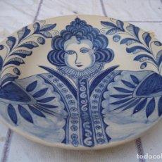 Antigüedades: PLATO GRANDE EN CERAMICA VIDRIADA Y PINTADA - NIVEIRO - TALAVERA DE LA REINA ( TOLEDO ). Lote 94469754