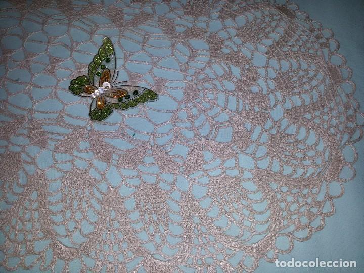 Antigüedades: TAPETE GANCHILLO-65X41 CM - Foto 3 - 94475562